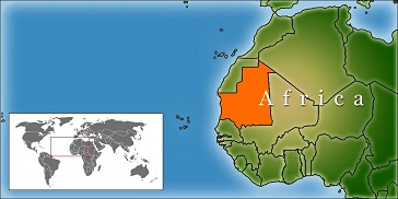 Mauritania location