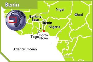 Benin location
