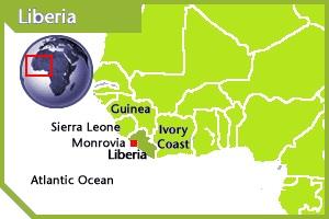 Liberia location